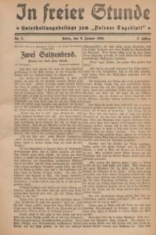 "In Freier Stunde : Unterhaltungsbeilage zum ""Posener Tageblatt"". Jg.3, Nr. 5 (6 Januar 1929)"
