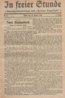 "In Freier Stunde : Unterhaltungsbeilage zum ""Posener Tageblatt"". Jg.3, Nr. 8 (10 Januar 1929)"
