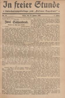 "In Freier Stunde : Unterhaltungsbeilage zum ""Posener Tageblatt"". Jg.3, Nr. 12 (15 Januar 1929)"