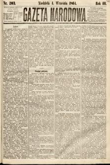 Gazeta Narodowa. 1864, nr203
