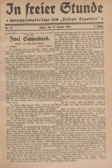 "In Freier Stunde : Unterhaltungsbeilage zum ""Posener Tageblatt"". Jg.3, Nr. 13 (16 Januar 1929)"