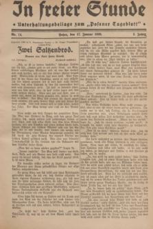 "In Freier Stunde : Unterhaltungsbeilage zum ""Posener Tageblatt"". Jg.3, Nr. 14 (17 Januar 1929)"