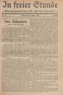 "In Freier Stunde : Unterhaltungsbeilage zum ""Posener Tageblatt"". Jg.3, Nr. 15 (18 Januar 1929)"