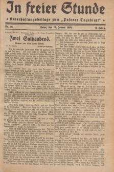 "In Freier Stunde : Unterhaltungsbeilage zum ""Posener Tageblatt"". Jg.3, Nr. 16 (19 Januar 1929)"