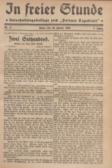 "In Freier Stunde : Unterhaltungsbeilage zum ""Posener Tageblatt"". Jg.3, Nr. 17 (20 Januar 1929)"