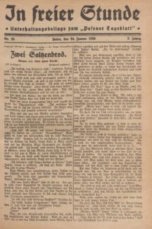"In Freier Stunde : Unterhaltungsbeilage zum ""Posener Tageblatt"". Jg.3, Nr. 20 (24 Januar 1929)"
