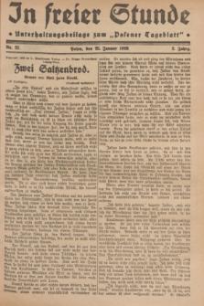 "In Freier Stunde : Unterhaltungsbeilage zum ""Posener Tageblatt"". Jg.3, Nr. 21 (25 Januar 1929)"