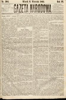 Gazeta Narodowa. 1864, nr204