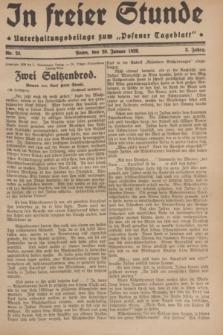 "In Freier Stunde : Unterhaltungsbeilage zum ""Posener Tageblatt"". Jg.3, Nr. 24 (29 Januar 1929)"