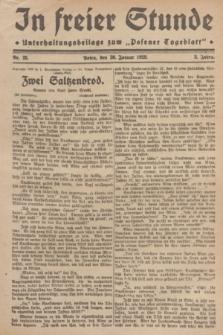 "In Freier Stunde : Unterhaltungsbeilage zum ""Posener Tageblatt"". Jg.3, Nr. 25 (30 Januar 1929)"