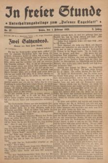 """In Freier Stunde : Unterhaltungsbeilage zum """"Posener Tageblatt"""". Jg.3, Nr. 27 (1 Februar 1929)"""