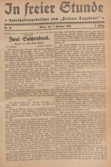 """In Freier Stunde : Unterhaltungsbeilage zum """"Posener Tageblatt"""". Jg.3, Nr. 28 (2 Februar 1929)"""
