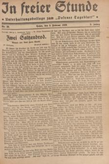 """In Freier Stunde : Unterhaltungsbeilage zum """"Posener Tageblatt"""". Jg.3, Nr. 29 (5 Februar 1929)"""