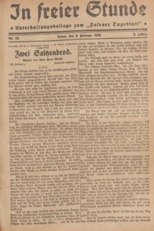 """In Freier Stunde : Unterhaltungsbeilage zum """"Posener Tageblatt"""". Jg.3, Nr. 30 (6 Februar 1929)"""