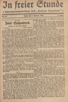 """In Freier Stunde : Unterhaltungsbeilage zum """"Posener Tageblatt"""". Jg.3, Nr. 31 (7 Februar 1929)"""