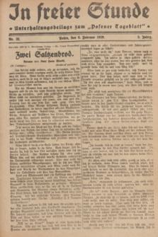 """In Freier Stunde : Unterhaltungsbeilage zum """"Posener Tageblatt"""". Jg.3, Nr. 32 (8 Februar 1929)"""