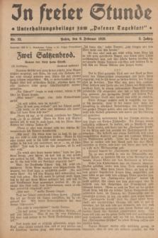 """In Freier Stunde : Unterhaltungsbeilage zum """"Posener Tageblatt"""". Jg.3, Nr. 33 (9 Februar 1929)"""