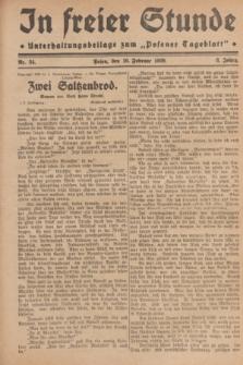 """In Freier Stunde : Unterhaltungsbeilage zum """"Posener Tageblatt"""". Jg.3, Nr. 34 (10 Februar 1929)"""
