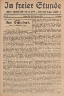 """In Freier Stunde : Unterhaltungsbeilage zum """"Posener Tageblatt"""". Jg.3, Nr. 35 (12 Februar 1929)"""