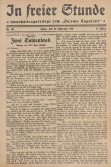 """In Freier Stunde : Unterhaltungsbeilage zum """"Posener Tageblatt"""". Jg.3, Nr. 36 (13 Februar 1929)"""