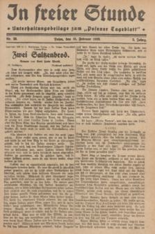 """In Freier Stunde : Unterhaltungsbeilage zum """"Posener Tageblatt"""". Jg.3, Nr. 38 (15 Februar 1929)"""