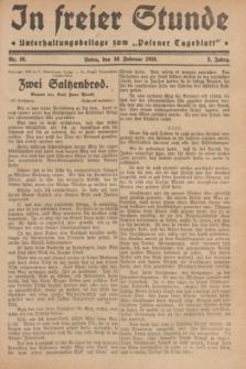 """In Freier Stunde : Unterhaltungsbeilage zum """"Posener Tageblatt"""". Jg.3, Nr. 39 (16 Februar 1929)"""