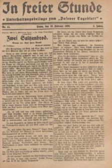 """In Freier Stunde : Unterhaltungsbeilage zum """"Posener Tageblatt"""". Jg.3, Nr. 41 (19 Februar 1929)"""