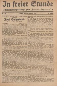 "In Freier Stunde : Unterhaltungsbeilage zum ""Posener Tageblatt"". Jg.3, Nr. 42 (20 Febraur 1929)"