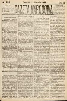 Gazeta Narodowa. 1864, nr206
