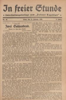 """In Freier Stunde : Unterhaltungsbeilage zum """"Posener Tageblatt"""". Jg.3, Nr. 43 (21 Februar 1929)"""