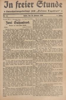 """In Freier Stunde : Unterhaltungsbeilage zum """"Posener Tageblatt"""". Jg.3, Nr. 44 (22 Februar 1929)"""