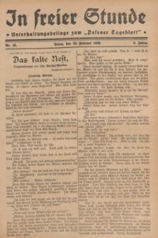 """In Freier Stunde : Unterhaltungsbeilage zum """"Posener Tageblatt"""". Jg.3, Nr. 45 (23 Februar 1929)"""