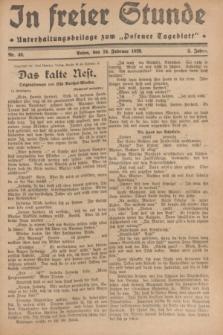 """In Freier Stunde : Unterhaltungsbeilage zum """"Posener Tageblatt"""". Jg.3, Nr. 46 (24 Februar 1929)"""