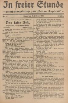 """In Freier Stunde : Unterhaltungsbeilage zum """"Posener Tageblatt"""". Jg.3, Nr. 47 (26 Februar 1929)"""