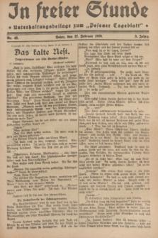 """In Freier Stunde : Unterhaltungsbeilage zum """"Posener Tageblatt"""". Jg.3, Nr. 48 (27 Februar 1929)"""