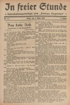 """In Freier Stunde : Unterhaltungsbeilage zum """"Posener Tageblatt"""". Jg.3, Nr. 51 (2 März 1929)"""