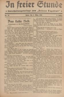 """In Freier Stunde : Unterhaltungsbeilage zum """"Posener Tageblatt"""". Jg.3, Nr. 52 (3 März 1929)"""