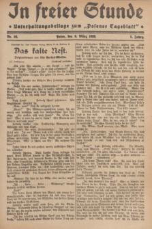 """In Freier Stunde : Unterhaltungsbeilage zum """"Posener Tageblatt"""". Jg.3, Nr. 56 (8 März 1929)"""