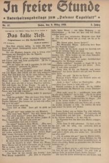 """In Freier Stunde : Unterhaltungsbeilage zum """"Posener Tageblatt"""". Jg.3, Nr. 57 (9 März 1929)"""
