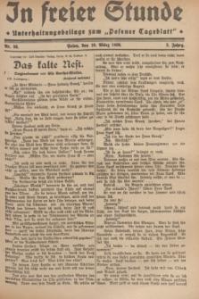 """In Freier Stunde : Unterhaltungsbeilage zum """"Posener Tageblatt"""". Jg.3, Nr. 58 (10 März 1929)"""
