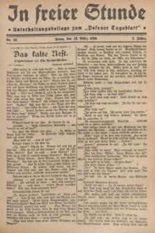 """In Freier Stunde : Unterhaltungsbeilage zum """"Posener Tageblatt"""". Jg.3, Nr. 59 (12 März 1929)"""