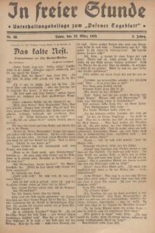 """In Freier Stunde : Unterhaltungsbeilage zum """"Posener Tageblatt"""". Jg.3, Nr. 60 (13 März 1929)"""