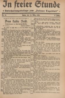 """In Freier Stunde : Unterhaltungsbeilage zum """"Posener Tageblatt"""". Jg.3, Nr. 61 (14 März 1929)"""