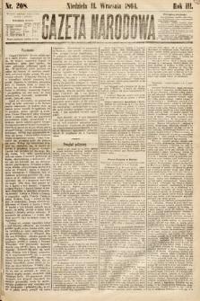 Gazeta Narodowa. 1864, nr208