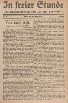 """In Freier Stunde : Unterhaltungsbeilage zum """"Posener Tageblatt"""". Jg.3, Nr. 65 (19 März 1929)"""