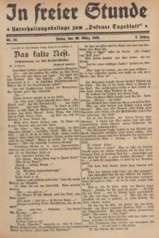 """In Freier Stunde : Unterhaltungsbeilage zum """"Posener Tageblatt"""". Jg.3, Nr. 66 (20 März 1929)"""