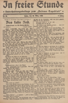 """In Freier Stunde : Unterhaltungsbeilage zum """"Posener Tageblatt"""". Jg.3, Nr. 68 (22 März 1929)"""