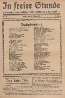 """In Freier Stunde : Unterhaltungsbeilage zum """"Posener Tageblatt"""". Jg.3, Nr. 70 (24 März 1929)"""
