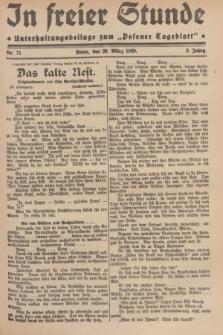 """In Freier Stunde : Unterhaltungsbeilage zum """"Posener Tageblatt"""". Jg.3, Nr. 71 (26 März 1929)"""