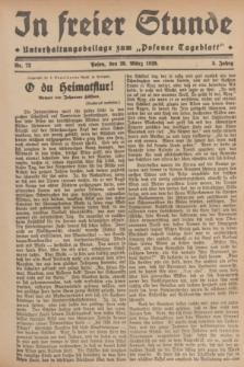 """In Freier Stunde : Unterhaltungsbeilage zum """"Posener Tageblatt"""". Jg.3, Nr. 73 (28 März 1929)"""